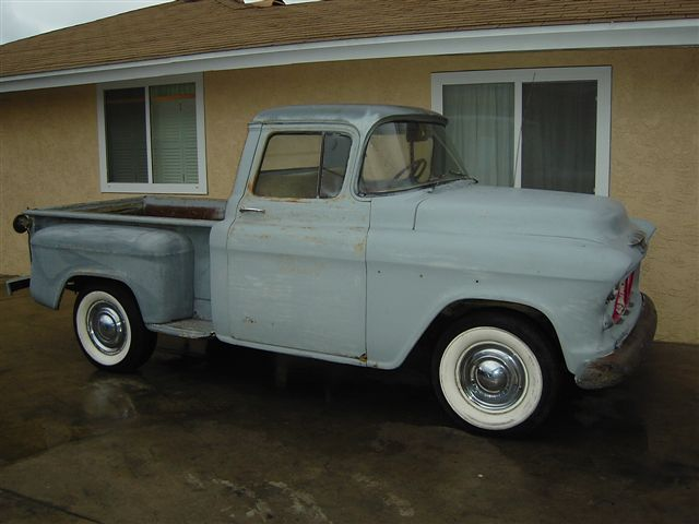 1955 chevy truck in sad shape chevy truck history 1955 1959 said he ...